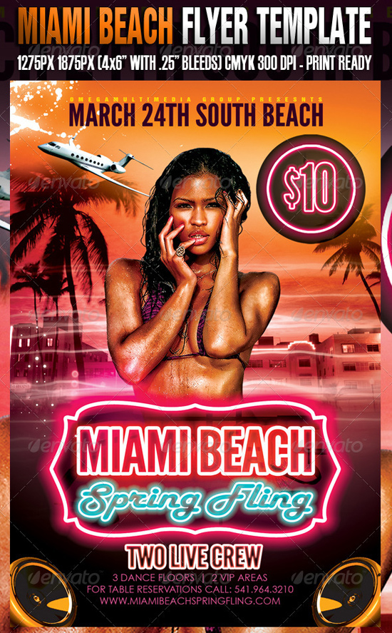 Miami Beach Flyer Template