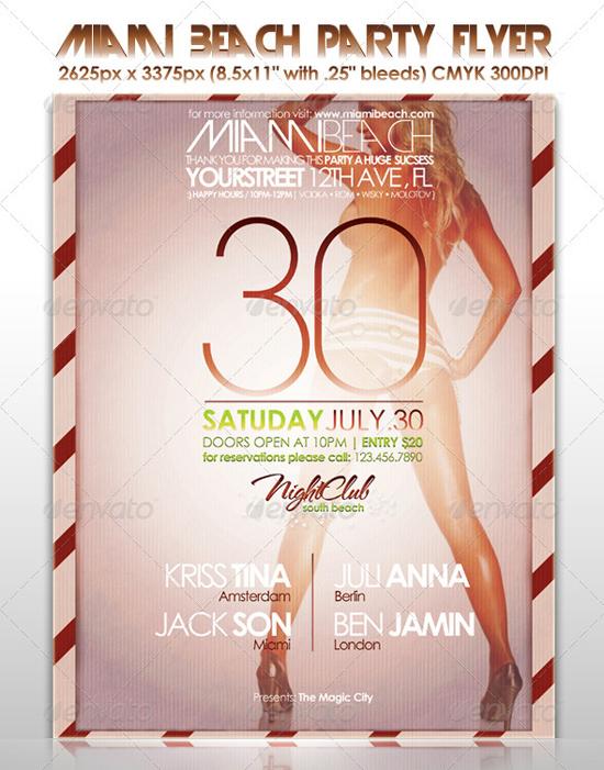 Miami Beach Party Flyer Template