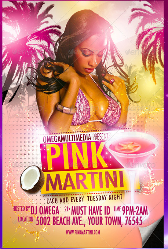 Pink Martini Flyer Template