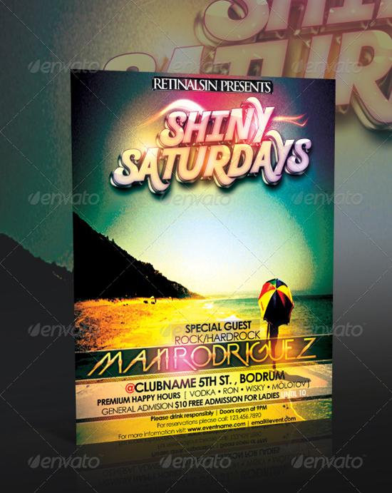 Shiny Saturdays Flyer Template