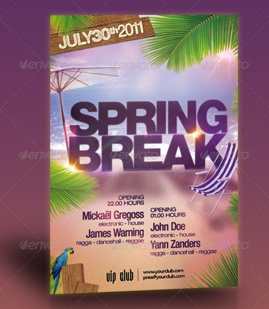 Spring Break Party Flyer