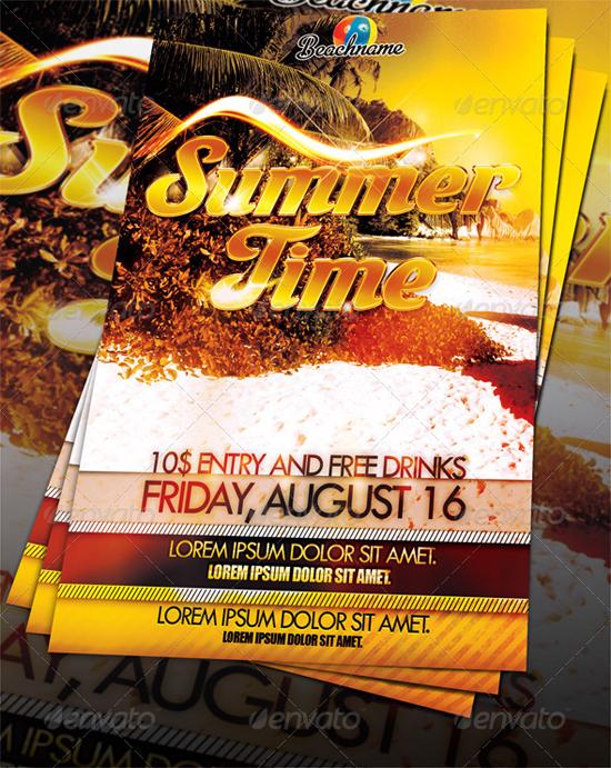 Summertime Beach Party Flyer Template
