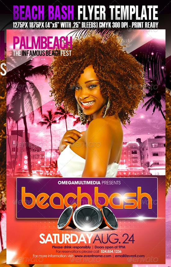 The Beach Bash Flyer Template
