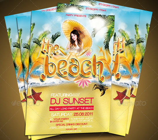 top 50 summer beach party flyer templates