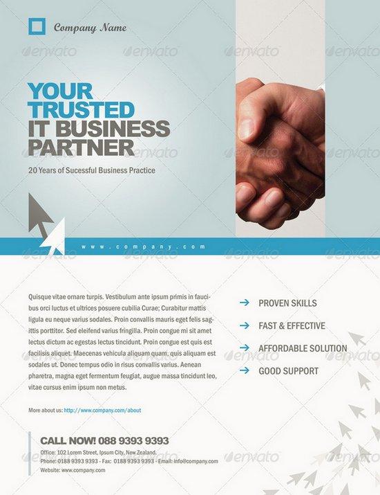 business flyer template 10