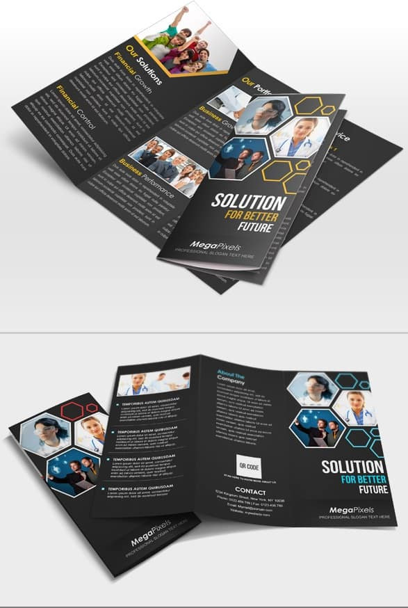 creative corporate tri-fold brochure