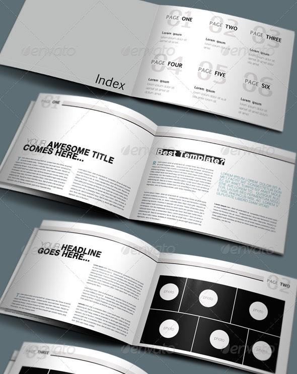A4 Modern Clean Booklet / Catalogue / Brochure