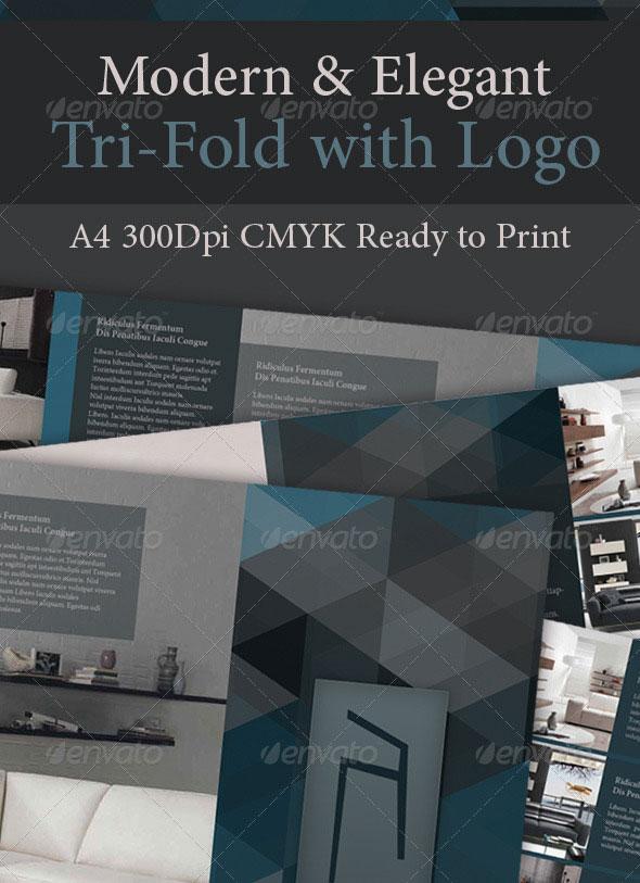 Modern & Elegant Tri-Fold with Logo