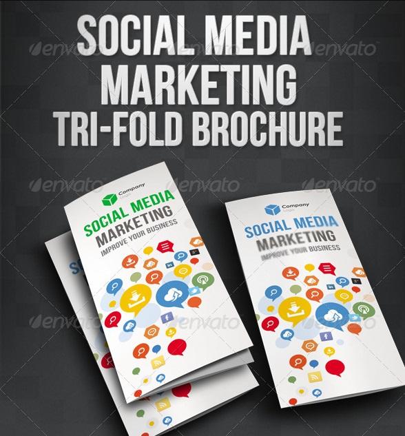 Social Media Marketing Tri-Fold Brochure