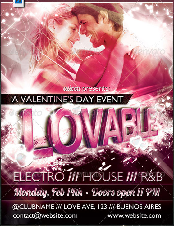 best valentines day party flyer
