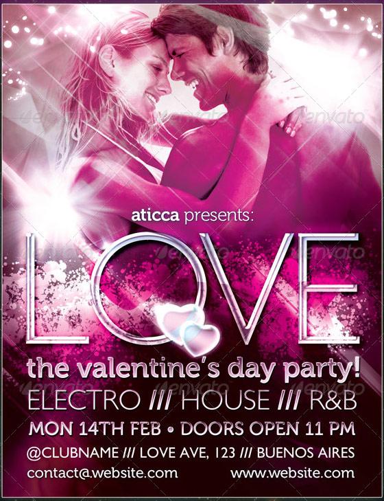 love valentines flyer template