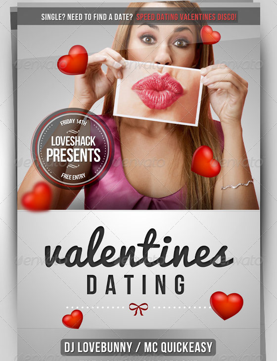 valentines dating party flyer