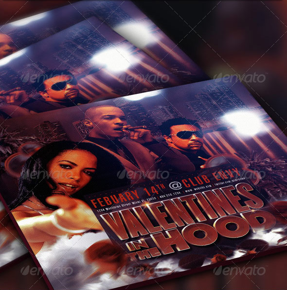 Valentines in the hood mixtape template