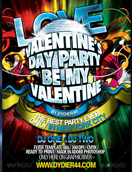 Valentines 2012 Flyer Template