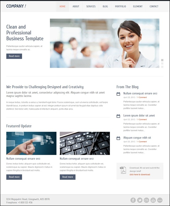 40 great responsive html website templates 56pixels company responsive html5 template flashek Images