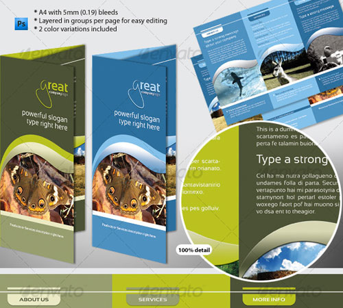 Generic A4 Tri-Fold Brochure