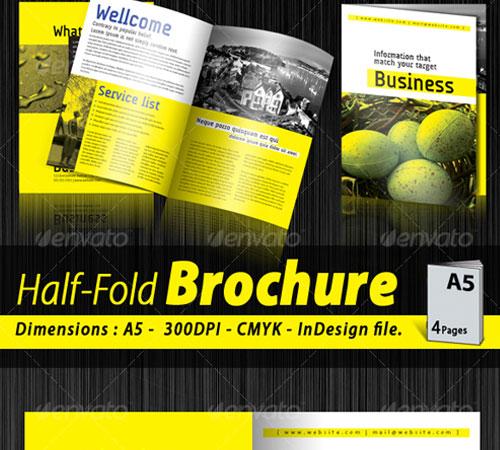 A5 Half-fold corporate brochure