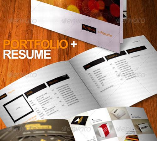 Portfolio + Resume Brochure