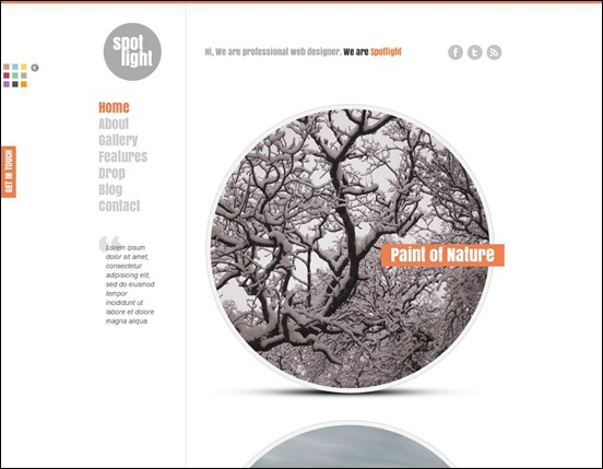 Spotlight - clean and minimal Drupal theme