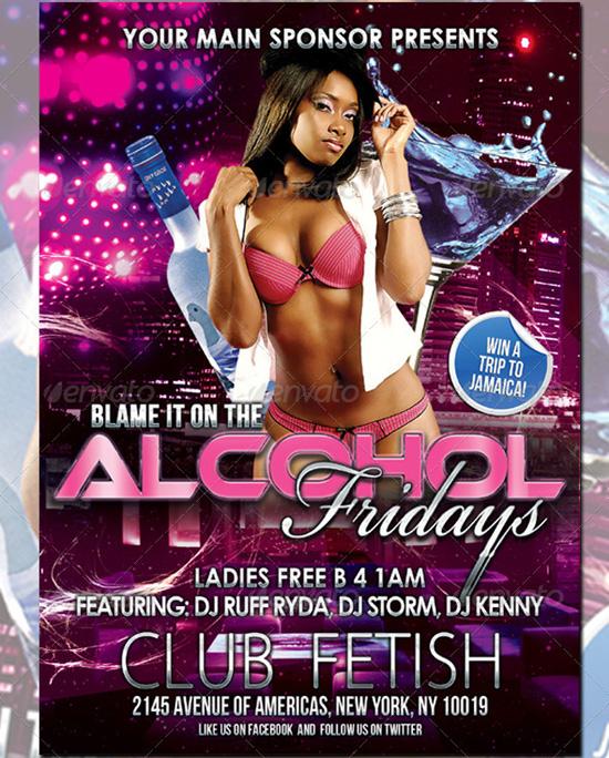 Blame It Club Flyer