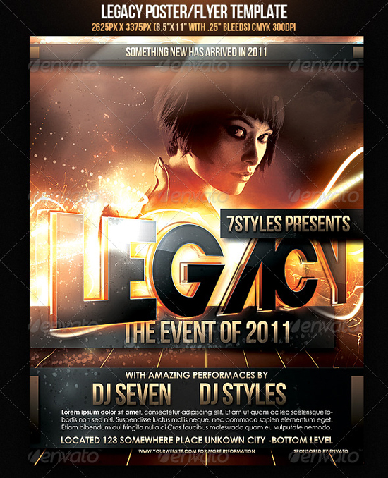 Legacy Flyer Template