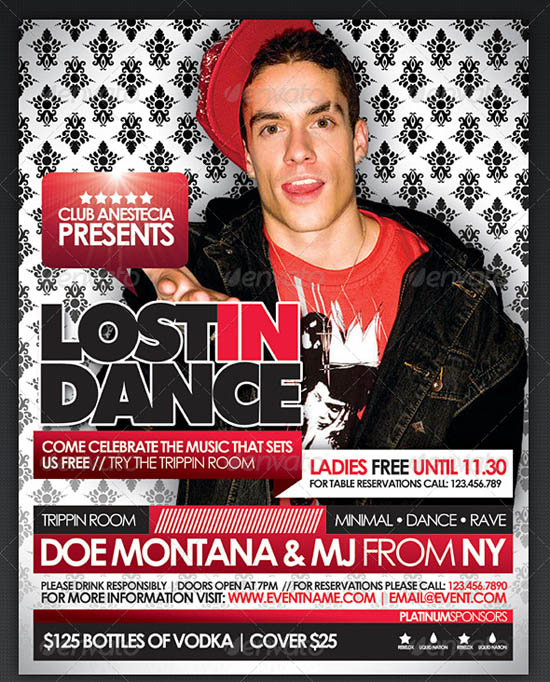Lost in Dance Flyer Template