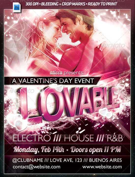Lovable Valentines Poster Template