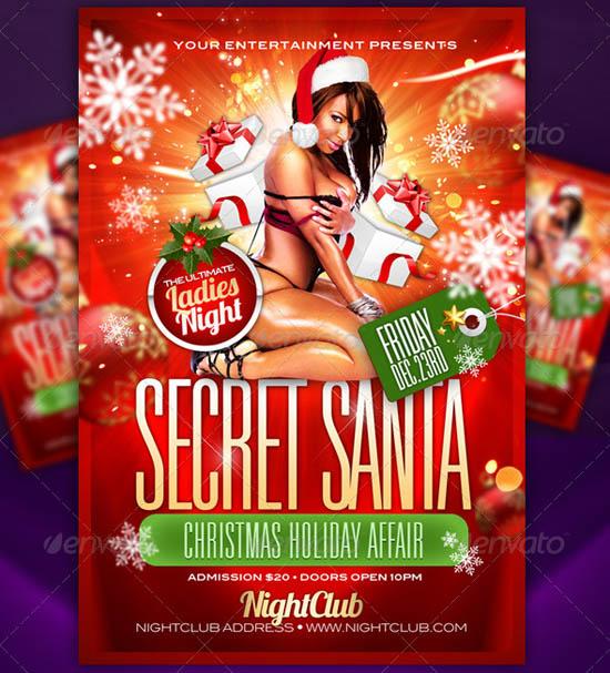 Secret Santa Flyer Template