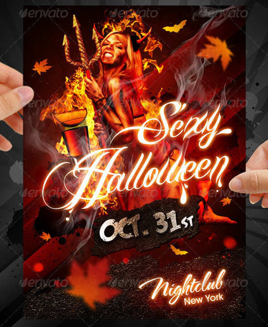 Sexy Halloween Party Flyer Template