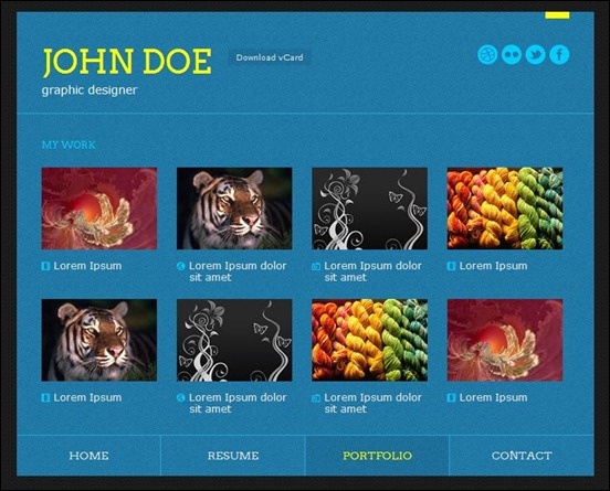 Colores - Responsive HTML5 vCard