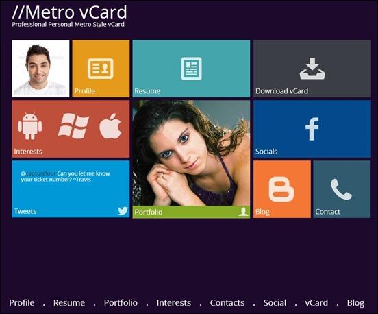 Metro-vCard
