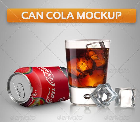 Can Soda Mockup