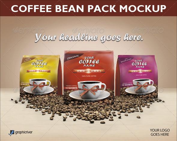 Coffee Bean Pack Mock-up
