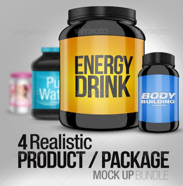 4 Realistic Product/Package Mock up Pack