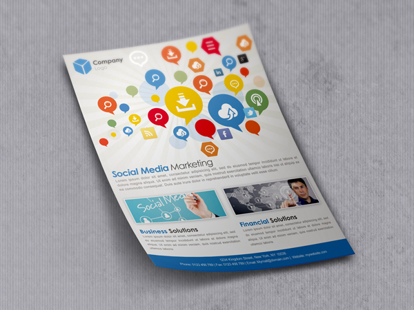Flyer-Mockup-1 - Free PSD Colourful Flyer Mockup