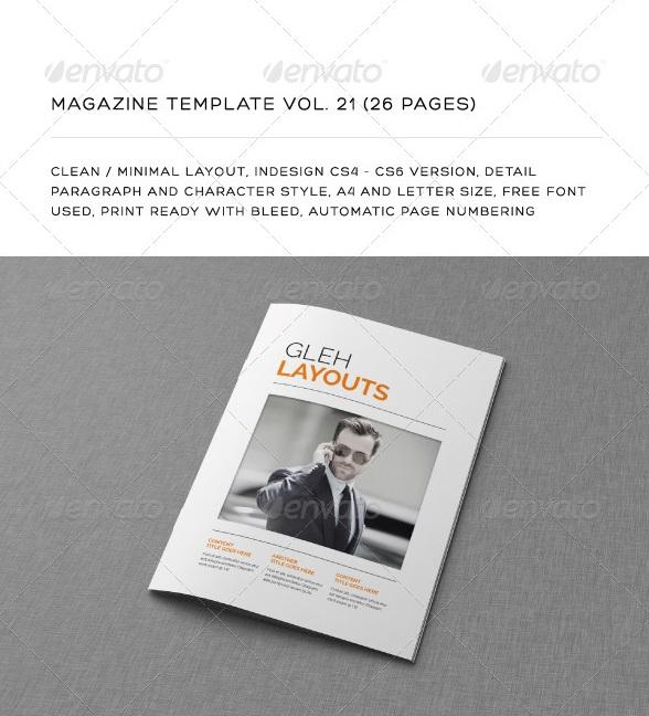 letter size magazine - magazine templates