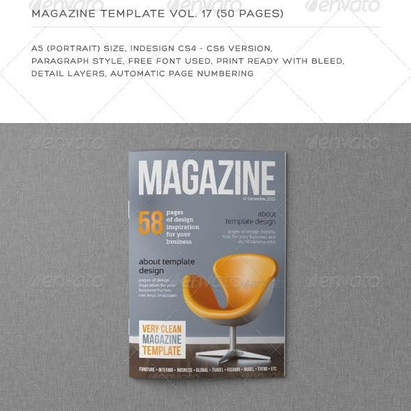 Portrait 50 Pages - magazine templates