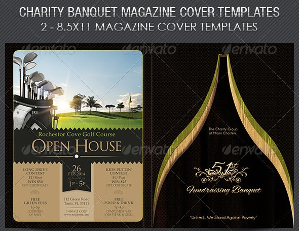 Charity Banquet Magazine Cover Template - magazine templates