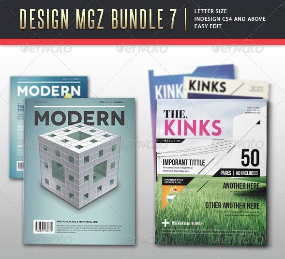 Design Bundle - magazine templates