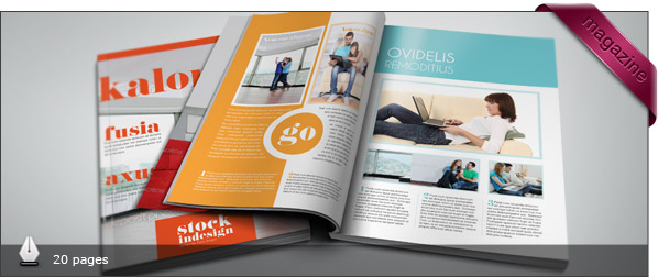 download free and premium print magazine templates