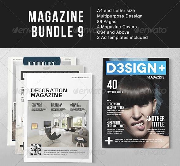 Magazine Bundle - magazine templates