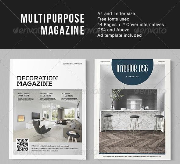 Multipurpose Page Magazine - magazine templates