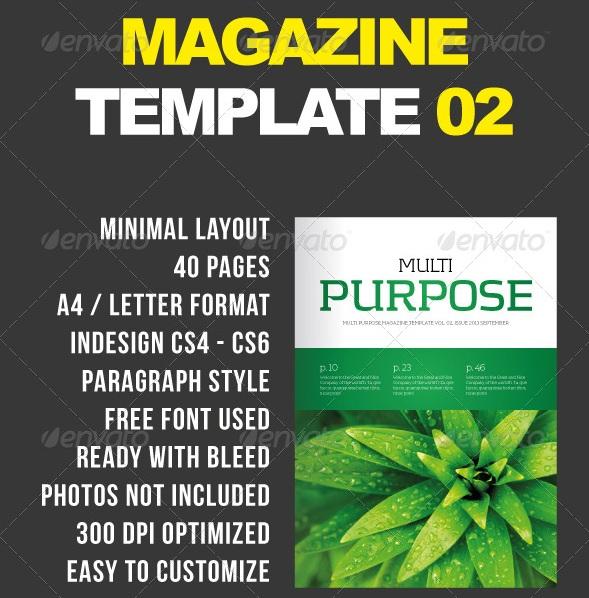 Multipurpose Magazine - magazine templates