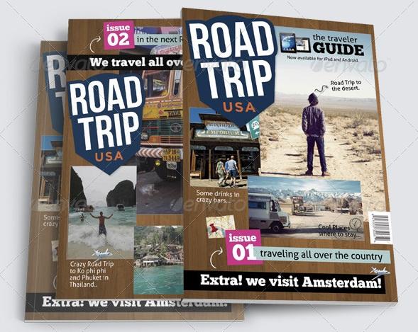 Road Trip Magazine Templates