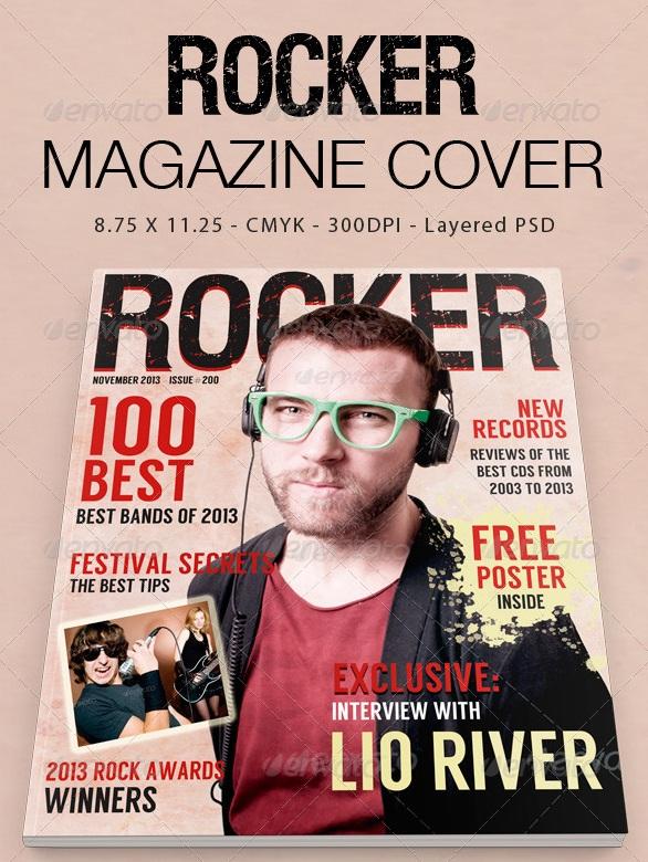 Rocker Magazine Cover - magazine templates