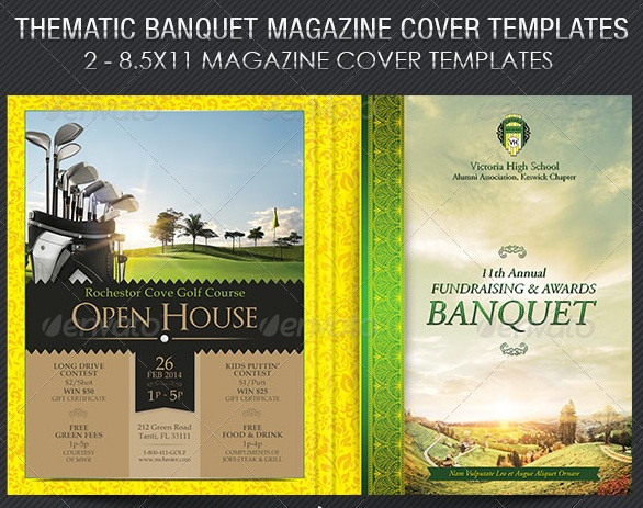 Thematic Banquet Magazine Cover Template - magazine templates