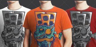 Dirty_Skull_Music_System_T_shirt_Design