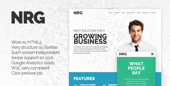 nrg-responsive-landing-page