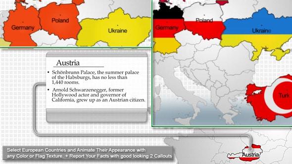 europe map highlighter
