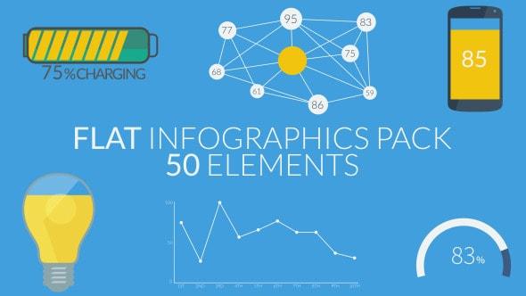 flat infographics pack (50 elements)